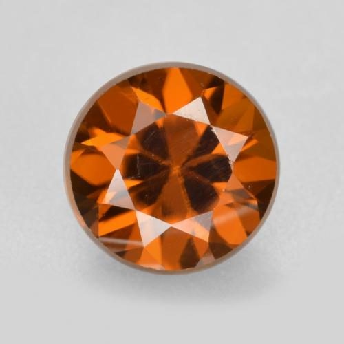 1.4ct Diamond-Cut Medium-Dark Orange Zircon Gem (ID: 481426)