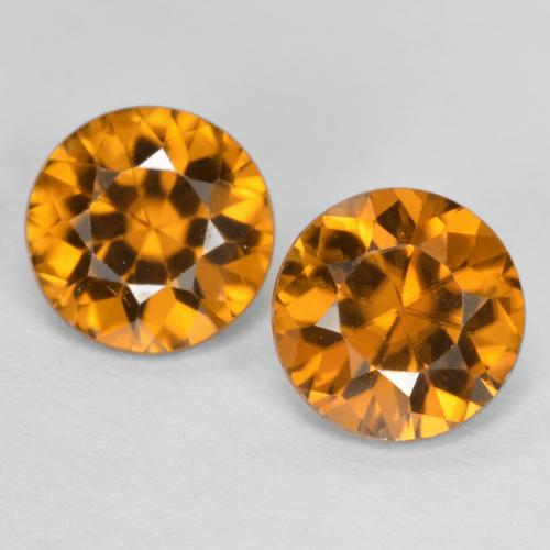 1.2ct Diamond-Cut Orange Brown Zircon Gem (ID: 481427)
