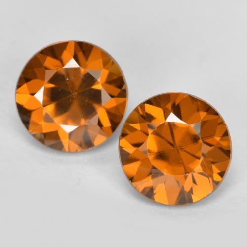 1.3ct Diamond-Cut Orange Brown Zircon Gem (ID: 481428)