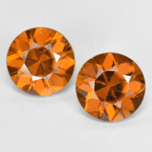 1.2ct Diamond-Cut Orange Brown Zircon Gem (ID: 481429)