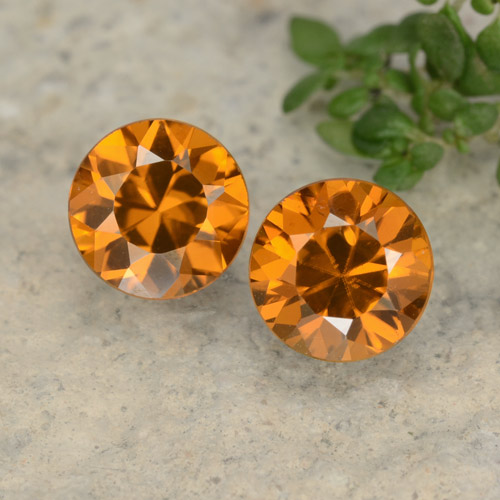 1.2ct Diamond-Cut Orange Brown Zircon Gem (ID: 481430)