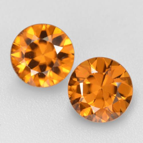 Medium Orange Circón Gema - 1.1ct Corte Diamante (ID: 481432)