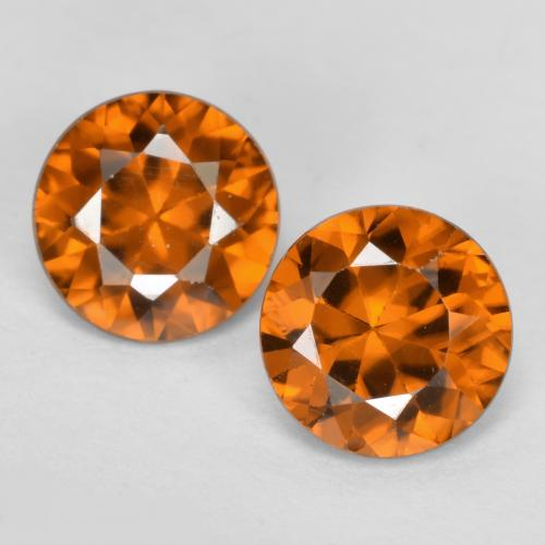 1.1ct Diamond-Cut Earthy Orange Zircon Gem (ID: 481433)