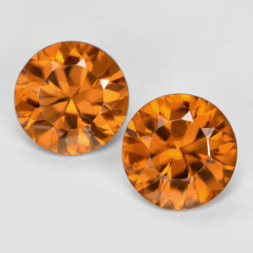 1.1ct Diamond-Cut Medium-Dark Orange Zircon Gem (ID: 481434)