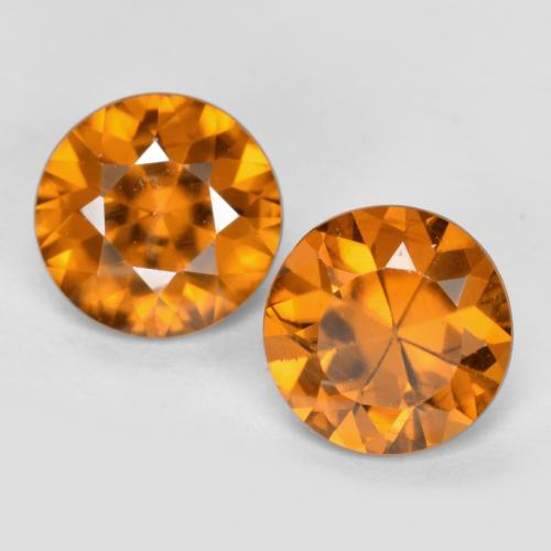 1.1ct Diamond-Cut Medium Orange Zircon Gem (ID: 481435)