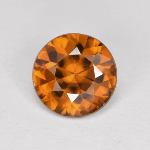 1.4ct Diamond-Cut Earthy Orange Zircon Gem (ID: 481436)