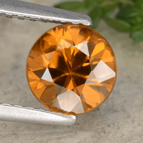 1.5ct Diamond-Cut Orange Brown Zircon Gem (ID: 481437)