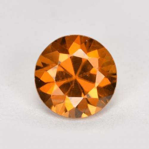 1.6ct Diamond-Cut Medium Orange Zircon Gem (ID: 481438)