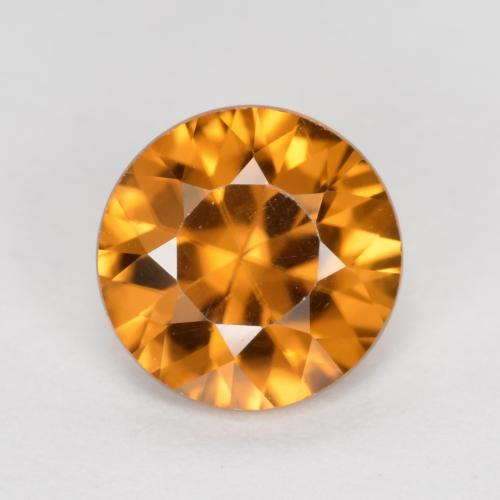 1.5ct Diamond-Cut Orange Brown Zircon Gem (ID: 481442)