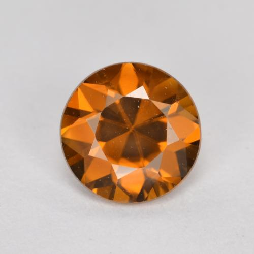 1.4ct Diamond-Cut Deep Orange Zircon Gem (ID: 481445)