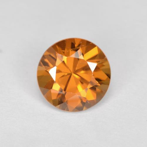 1.6ct Diamond-Cut Medium Orange Zircon Gem (ID: 481446)