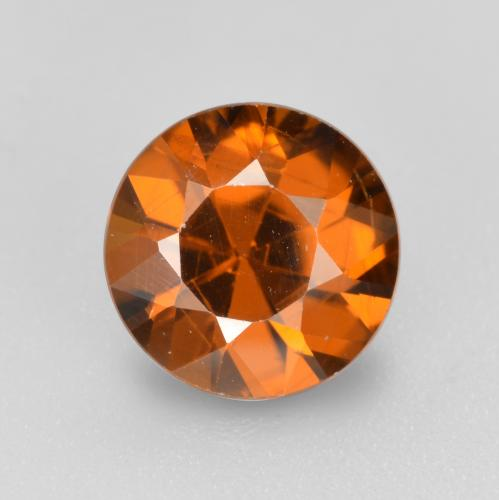1.6ct Diamond-Cut Medium Orange Zircon Gem (ID: 481447)