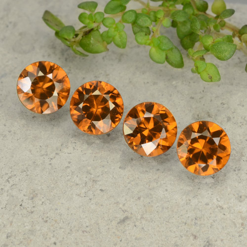 1.1ct Diamond-Cut Deep Orange Zircon Gem (ID: 481449)