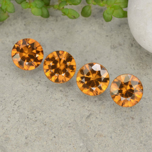1.1ct Diamond-Cut Orange Brown Zircon Gem (ID: 481451)