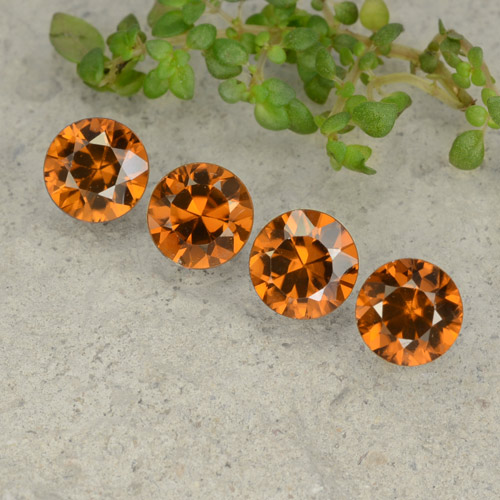 1.1ct Diamond-Cut Dark Orange Zircon Gem (ID: 481453)