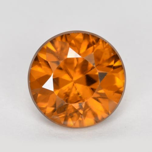 1.3ct Diamond-Cut Apricot Orange Zircon Gem (ID: 481874)