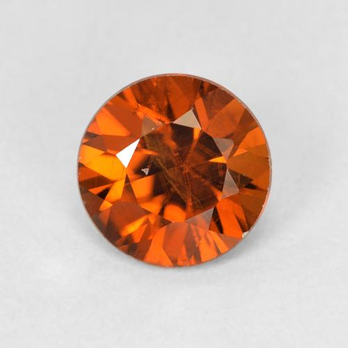 1.1ct Diamond-Cut Deep Orange Zircon Gem (ID: 481875)