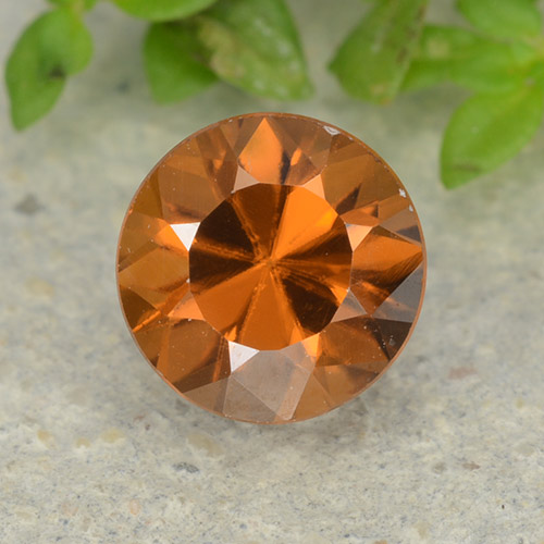 1.2ct Diamond-Cut Yellowish Orange Zircon Gem (ID: 481876)