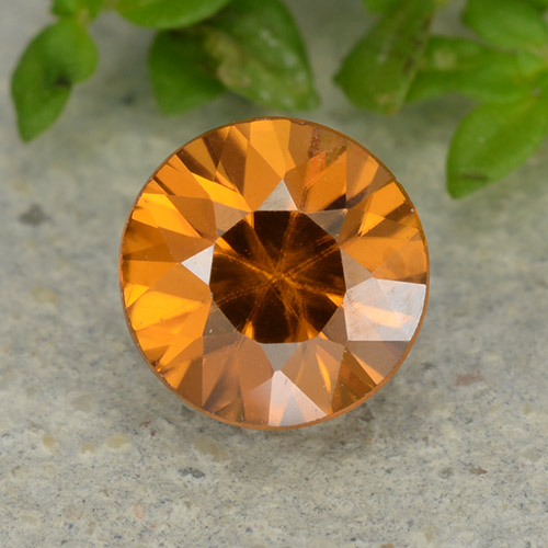 1.1ct Diamond-Cut Apricot Orange Zircon Gem (ID: 481877)