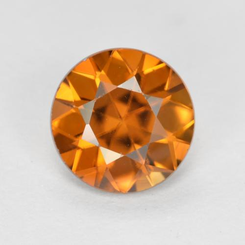 1.2ct Diamond-Cut Deep Orange Zircon Gem (ID: 481878)