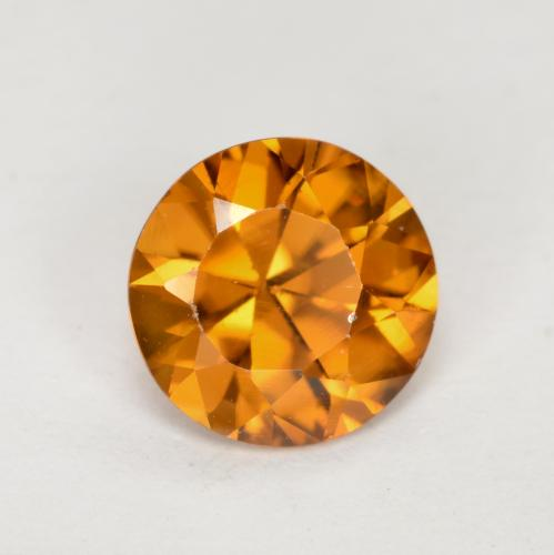 1.2ct Diamond-Cut Medium Orange Zircon Gem (ID: 481879)