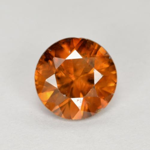 1.1ct Diamond-Cut Medium-Dark Orange Zircon Gem (ID: 481880)