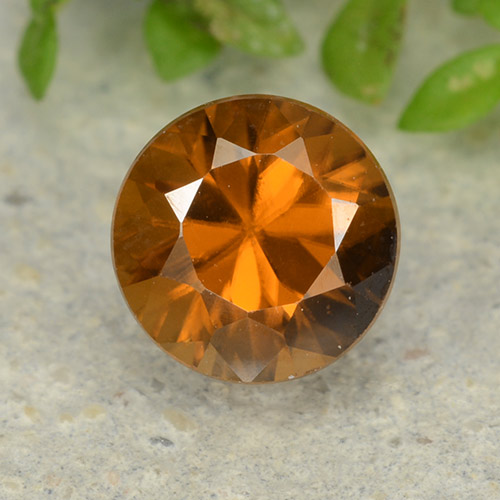 1.4ct Diamond-Cut Medium Orange Zircon Gem (ID: 481881)