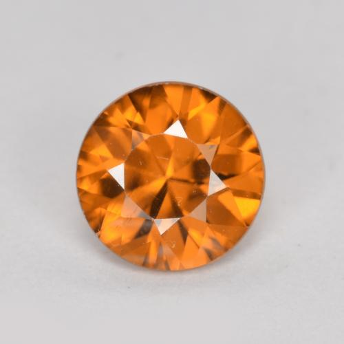 1.1ct Diamond-Cut Deep Orange Zircon Gem (ID: 481882)