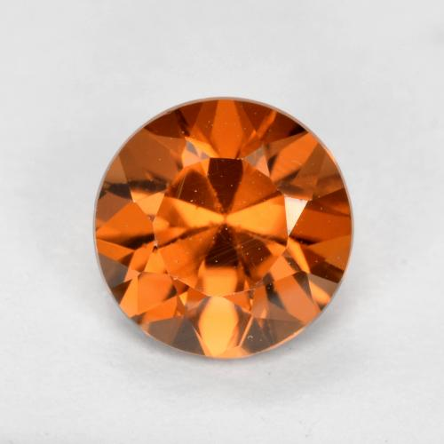 1.2ct Diamond-Cut Orange Brown Zircon Gem (ID: 481883)