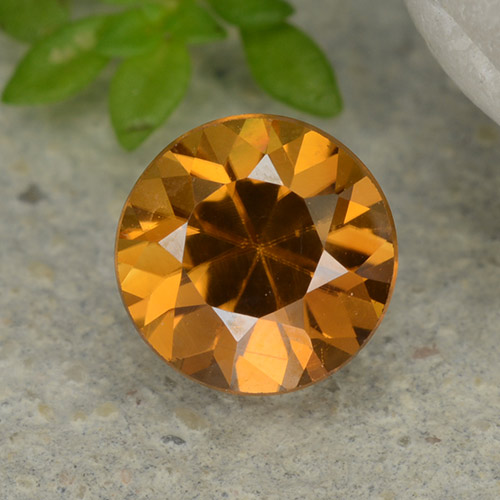 1.2ct Diamond-Cut Orange Brown Zircon Gem (ID: 481884)