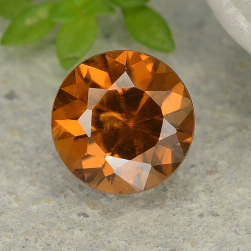 1.2ct Diamond-Cut Deep Orange Zircon Gem (ID: 481885)