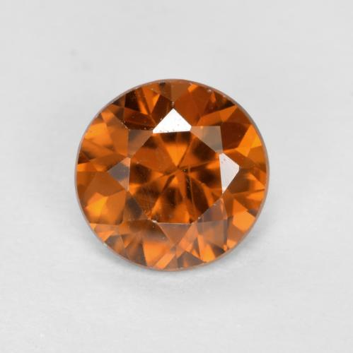 1.1ct Diamond-Cut Fire Orange Zircon Gem (ID: 481886)