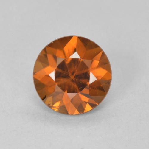 1.2ct Diamond-Cut Medium-Dark Orange Zircon Gem (ID: 481888)