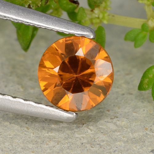 1ct Diamond-Cut Medium Orange Zircon Gem (ID: 481889)