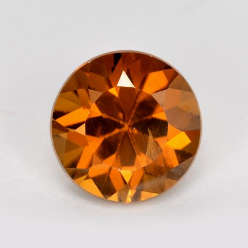 1.3ct Diamond-Cut Deep Orange Zircon Gem (ID: 481891)