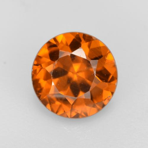 1.1ct Diamond-Cut Amber Orange Zircon Gem (ID: 481892)