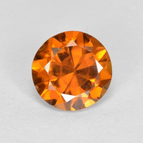 1.1ct Diamond-Cut Deep Orange Zircon Gem (ID: 481893)