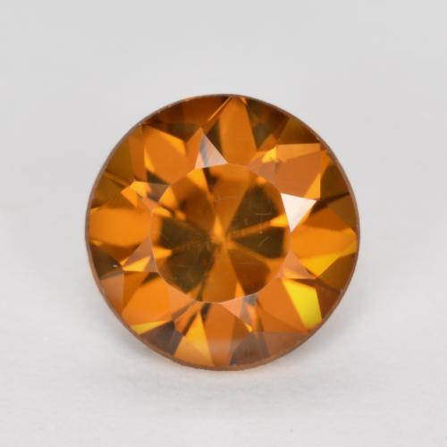 1.2ct Diamond-Cut Deep Orange Zircon Gem (ID: 481894)