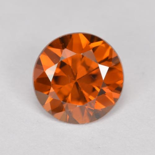 1.1ct Diamond-Cut Amber Orange Zircon Gem (ID: 481896)
