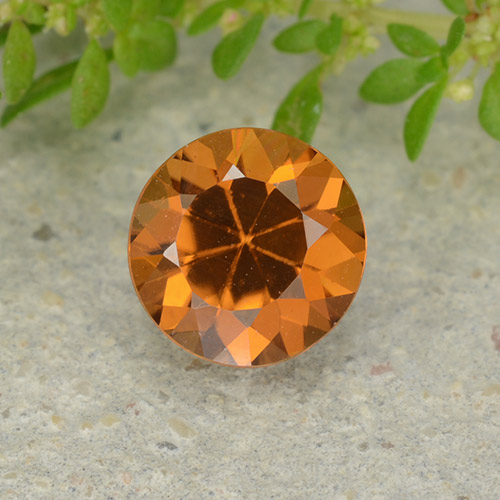 1.1ct Diamond-Cut Deep Orange Zircon Gem (ID: 481897)