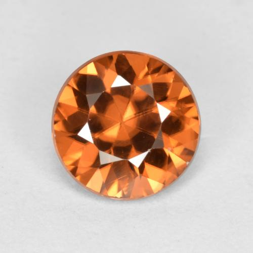 1.1ct Diamond-Cut Deep Orange Zircon Gem (ID: 481898)