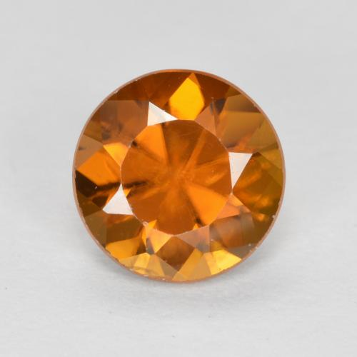 1.2ct Diamond-Cut Medium-Dark Orange Zircon Gem (ID: 481899)