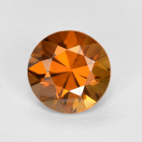 1.2ct Diamond-Cut Medium-Dark Orange Zircon Gem (ID: 481900)