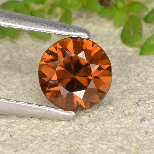 1.2ct Diamond-Cut Deep Orange Zircon Gem (ID: 481902)