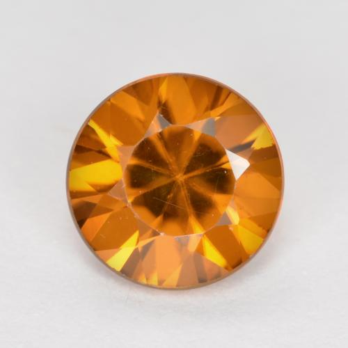1.2ct Diamond-Cut Medium Orange Zircon Gem (ID: 481903)