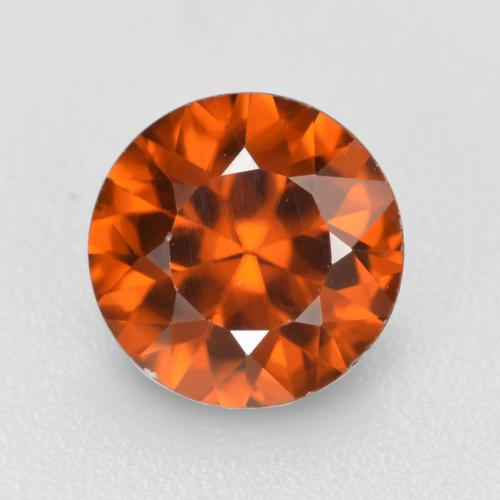 1.2ct Diamond-Cut Dark Orange Zircon Gem (ID: 481904)