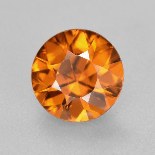1.1ct Diamond-Cut Medium Orange Zircon Gem (ID: 481905)
