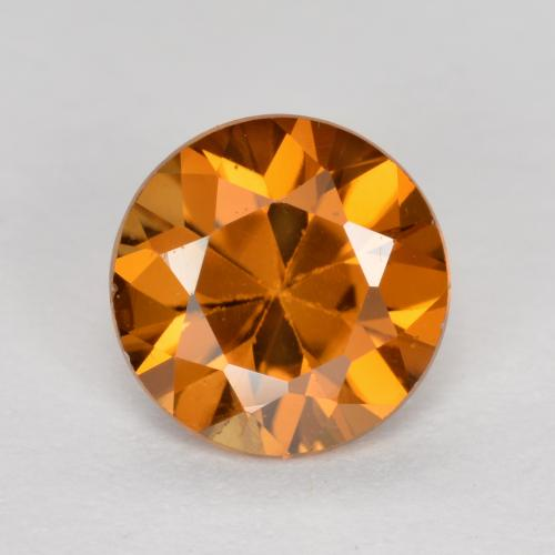 1.1ct Diamond-Cut Deep Orange Zircon Gem (ID: 481906)