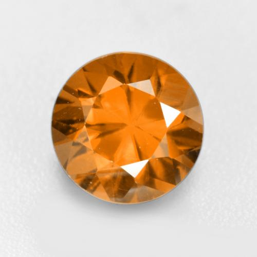 1.3ct Diamond-Cut Medium-Dark Orange Zircon Gem (ID: 481924)