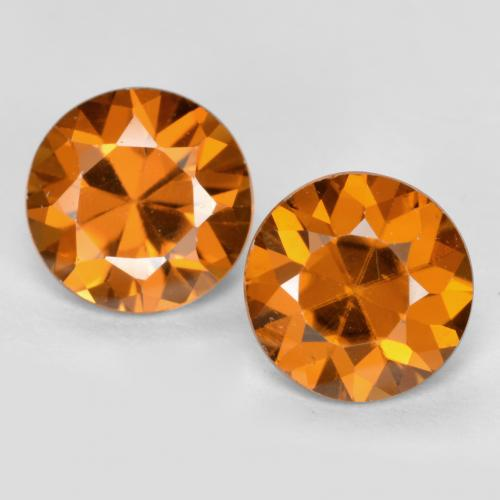 1.1ct Diamond-Cut Deep Orange Zircon Gem (ID: 481926)